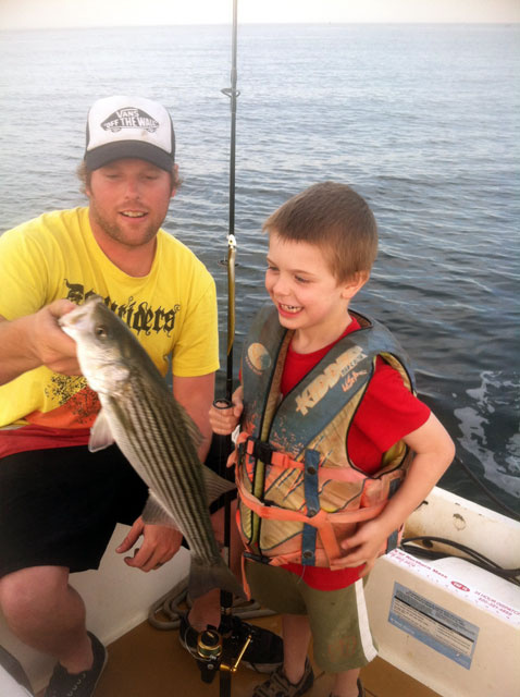 Toby goes fishing with his soon to be dad Captain Paul