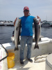 Striped bass caught on Obsessed Charters